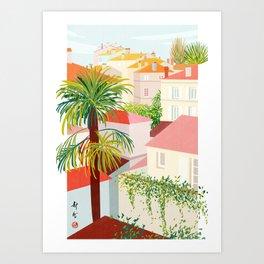 beautiful village Art Print