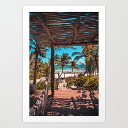 Cabana view of the Beach (Color) Art Print