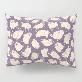 Purple Pugs Pattern Pillow Sham
