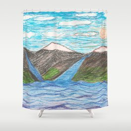 A Very Simple Landscape Shower Curtain