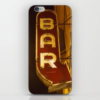 bar iPhone & iPod Skins featuring Bar by Joseph Skompski