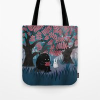 Tote Bags featuring Another Quiet Spot by littleclyde