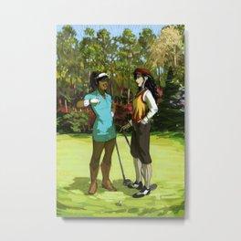 Korrasami - The Fabulous Golf Duo Metal Print