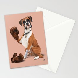 The Boxer (colour) Stationery Cards