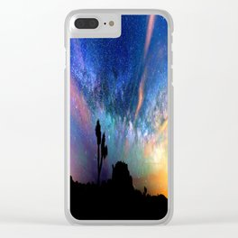 Colorful milky way Clear iPhone Case