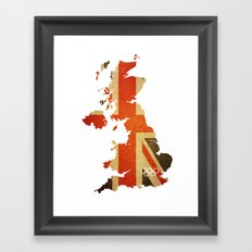 Union Jack Map - Olympics London 2012 Framed Art Print