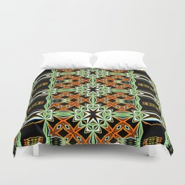 African Orange Pattern - Tribal Vibes Collection Duvet Cover