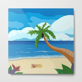 Nice day at the beach Metal Print