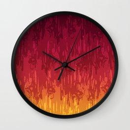 Meltdown Hot Wall Clock