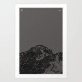 Nature / Winter Mountains Art Print