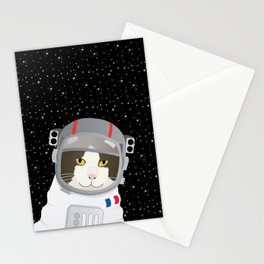 1963: France Blasted the First Cat into Outer Space Stationery Cards