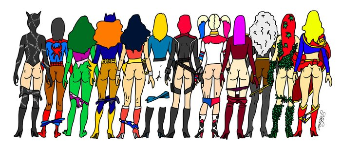 Superhero Butts - Girls Superheroine Butts LV Coffee Mug