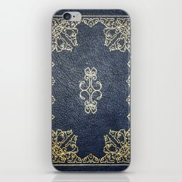 Gilded Gold and Blue Book iPhone Skin
