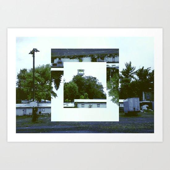Decoy Geometry Overgrown Art Print