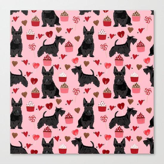 Scottie scottish terrier valentines day dog love pet portrait cute puppy dog valentine by petfriendly