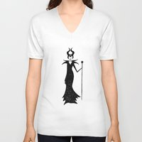 maleficent V-neck T-shirts featuring maleficent by kate gabrielle