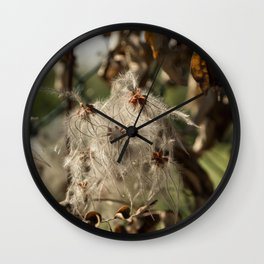 Bushes with starseeds surrounded with white aura Wall Clock