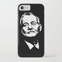 bill murray iPhone & iPod Cases featuring Bill Murray by Laura Lindsey