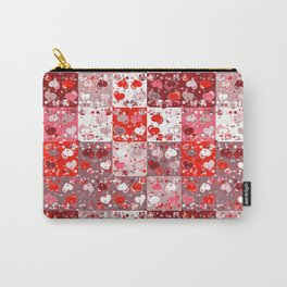 Abstract seamless backgrounds. Patchwork, american countryside style. Carry-All Pouch
