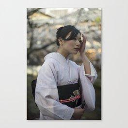 Saya in Kimono II Canvas Print