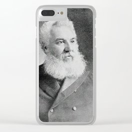 Alexander Graham Bell, the telephone inventor Clear iPhone Case