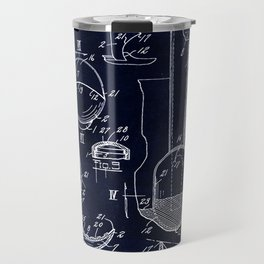 Ice Cream Scoop Blueprint Travel Mug
