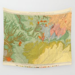 Vintage Southwest Map Wall Tapestry