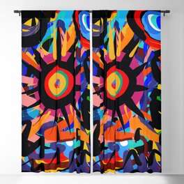 Black Sun is shining Abstract Art Street Graffiti Blackout Curtain