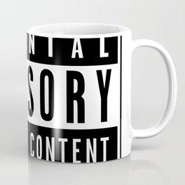 Explicit Content Label Coffee Mug