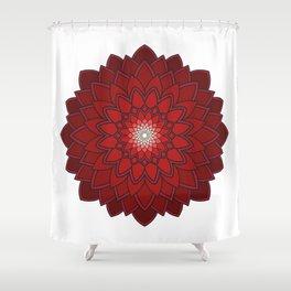 Ornamental round flower decorative element Shower Curtain