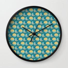 Bird, plants, sea and summer Wall Clock