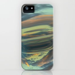 Sunrise Tornado: digital abstraction iPhone Case