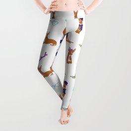 Pharaoh Hounds Pattern Blue Leggings