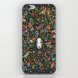 Kaonashi no-face christmas iPhone Skin