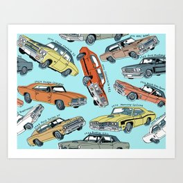 Muscle Cars Art Print