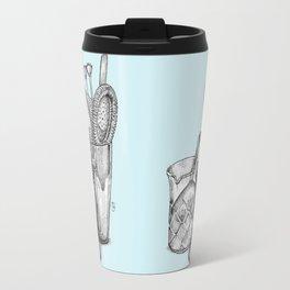 Bartender in turquoise Travel Mug