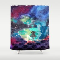 whisky Shower Curtains featuring SPACE by sametsevincer