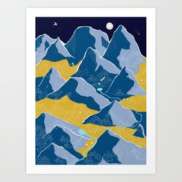 Say goodnight to the mountains Art Print