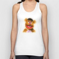 muppets Tank Tops featuring Fozzie, The Muppets by KitschyPopShop