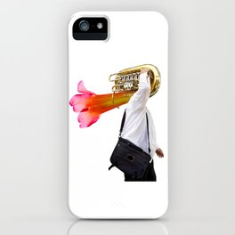 Musician and Flower Horn iPhone Case