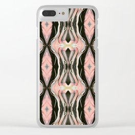 Floating Alone In An Empty Heart (Pattern 1) Clear iPhone Case