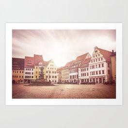 Freiberg, Germany Town Square Art Print