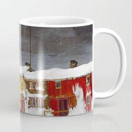 Harald Sohlberg, Street in Roros in Winter, 1903 Coffee Mug