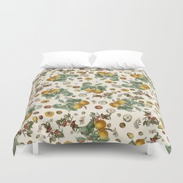 Apples Pears Peaches Duvet Cover