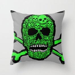 Musca Head Dead Throw Pillow