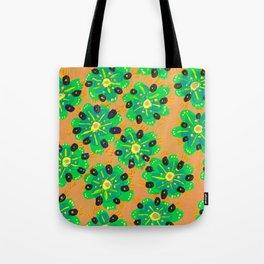 Green Desert Rose Tote Bag
