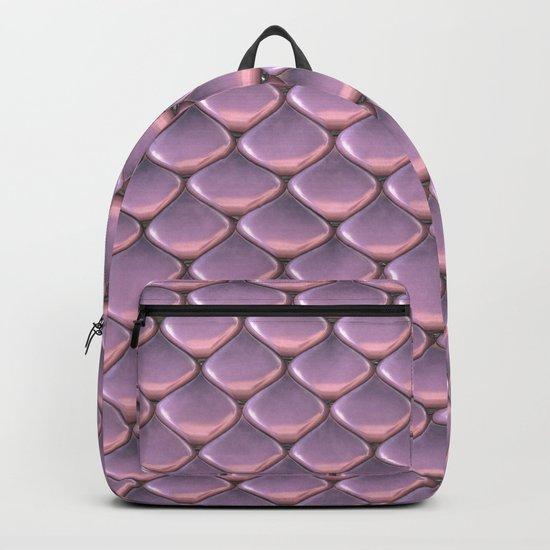 Pink Snake Skin mermaid scales Backpack