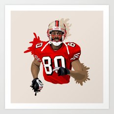 Jerry Rice Illustration Art Print
