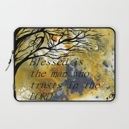Blessed Is The Man Who Trusts In The Lord Laptop Sleeve
