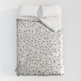 three sides to every story Duvet Cover